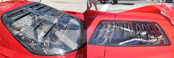 F40 and F50 rear window
