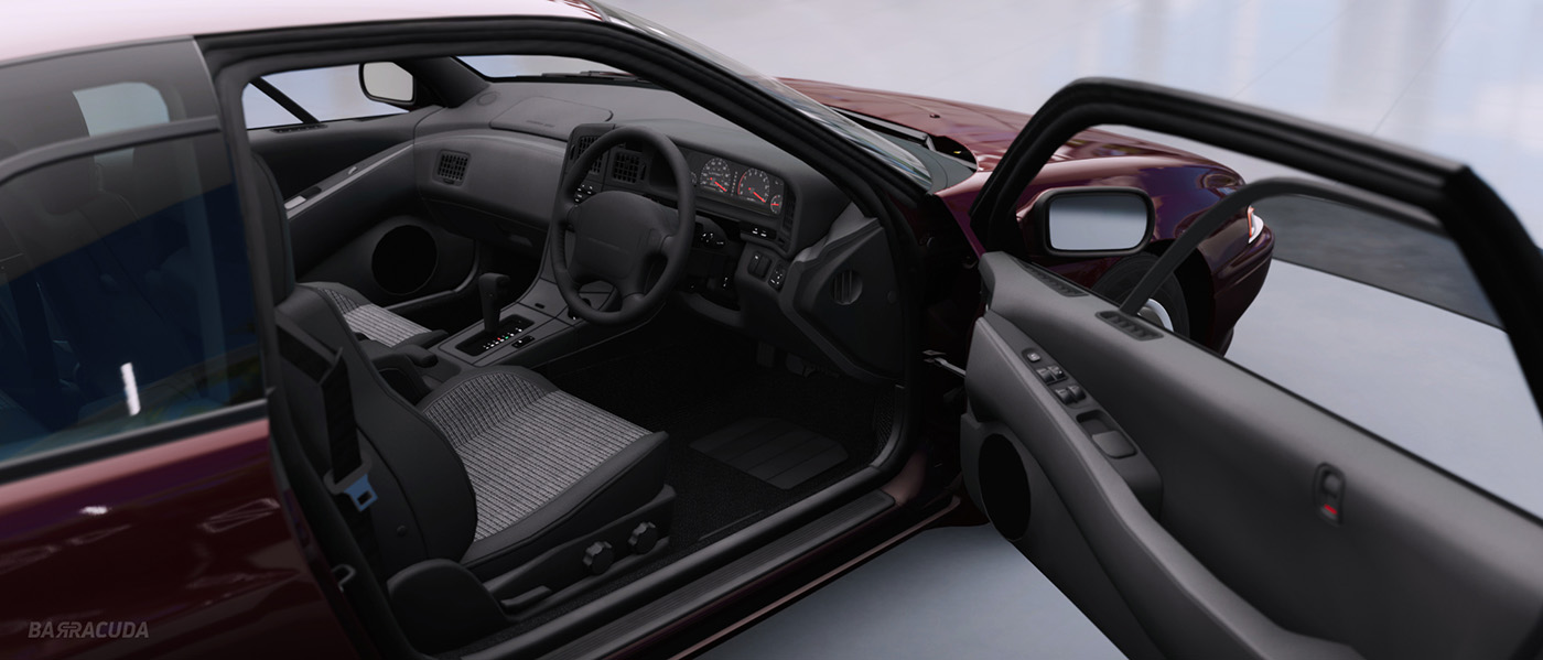 Subaru SVX alcyone interior photo