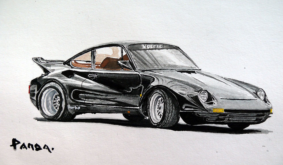 Koenig Porsche 911 Turbo Road Runner art