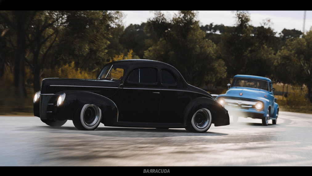 ford delux coupe gt specs forza barracuda