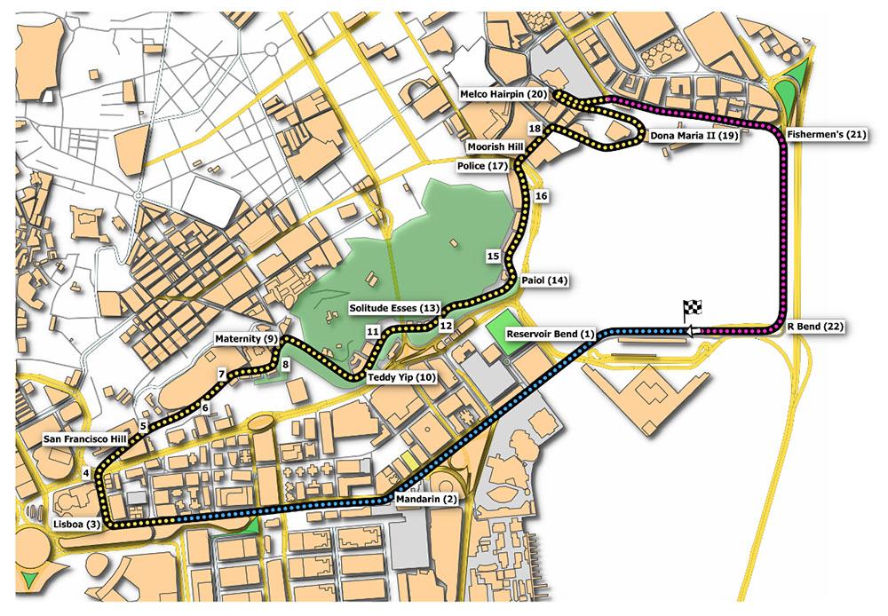 Macau Guia track map